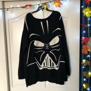 Knitted Darth Vader Oversized Sweater